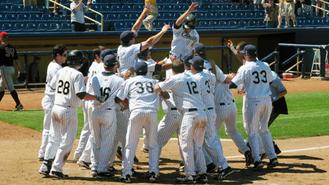 Casey Frawley's walk-off home run was his first hit of the day.