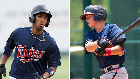 Eddie Rosario and Brandon Drury were named Appy League co-MVPs.