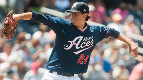 Tyler Skaggs has a 2.65 ERA in three starts with Triple-A Reno.