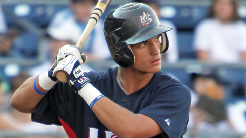 Albert Almora helped Team USA win the gold medal at the 2011 Pan-Am Games.